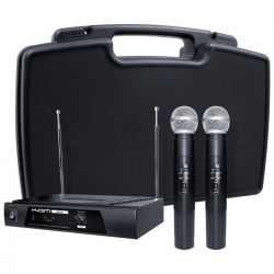 KAM KWM11 Dual Handheld Wireless Microphone System, 174.1/174.5