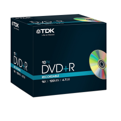 DVD+R recordable TDK 19389