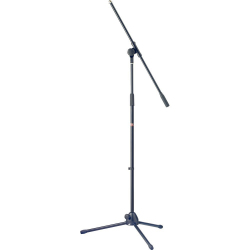 Stagg MIS-1022BK Microphone Boom Stand with Folding Legs - Black