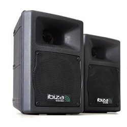 Ibiza DJ-420 2-Way Compact DJ Audio Studio Speakers 200W