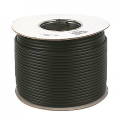 Coaxial lead 100m roll black